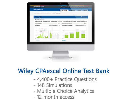 2018 review wiley cpaexcel review course 490 discount included in the platinum version you will also receive a separate online test bank which is perfect for using during your final review after you have fandeluxe Image collections